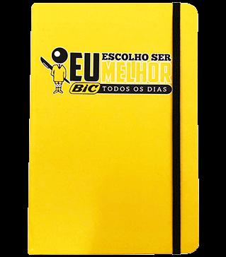 caderneta personalizada amarela