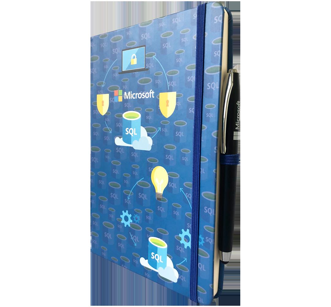 caderneta personalizada com caneta