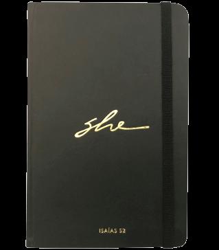 Caderneta personalizada com hot stamping ouro